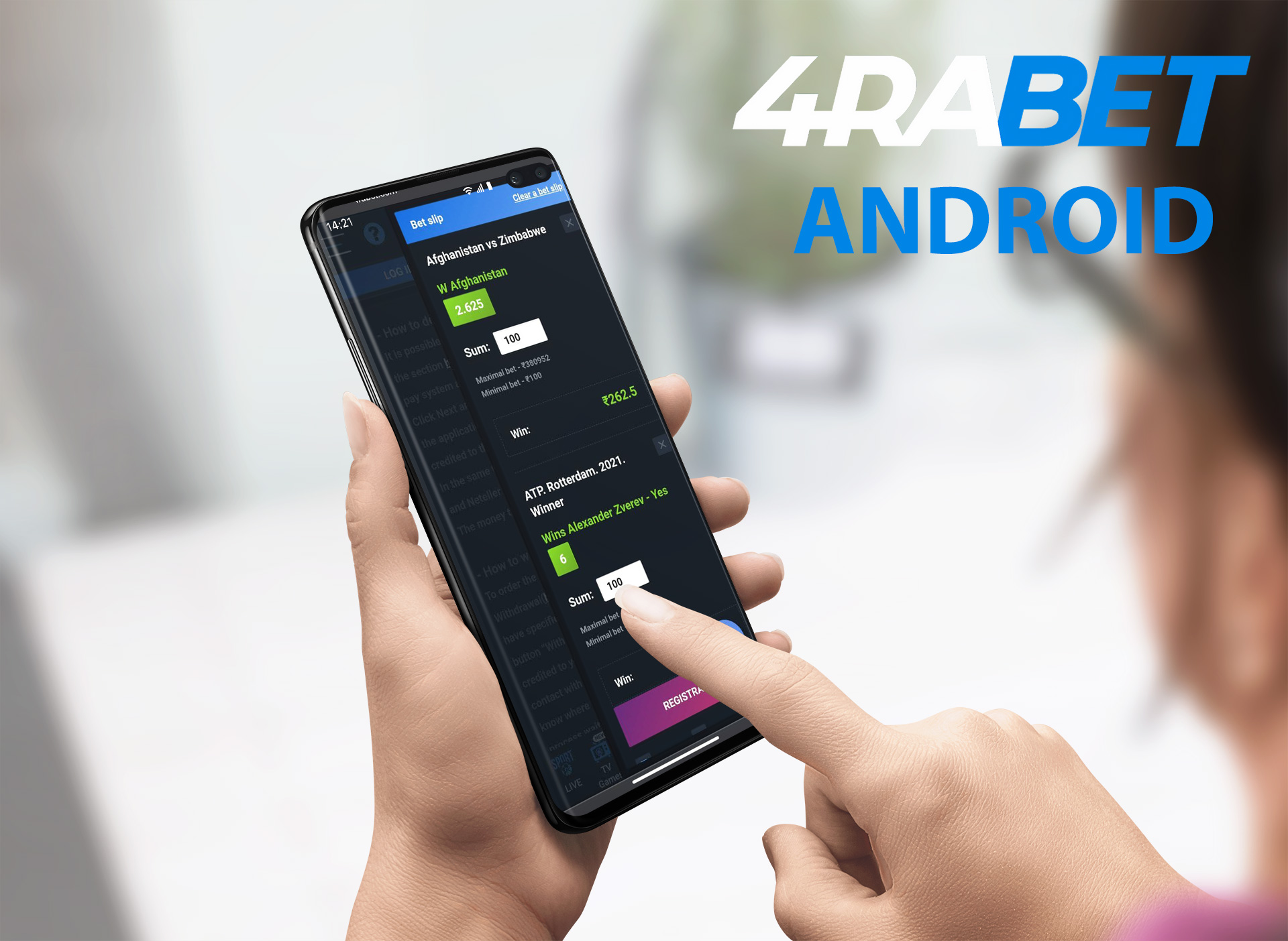 4rabet apk for Android.