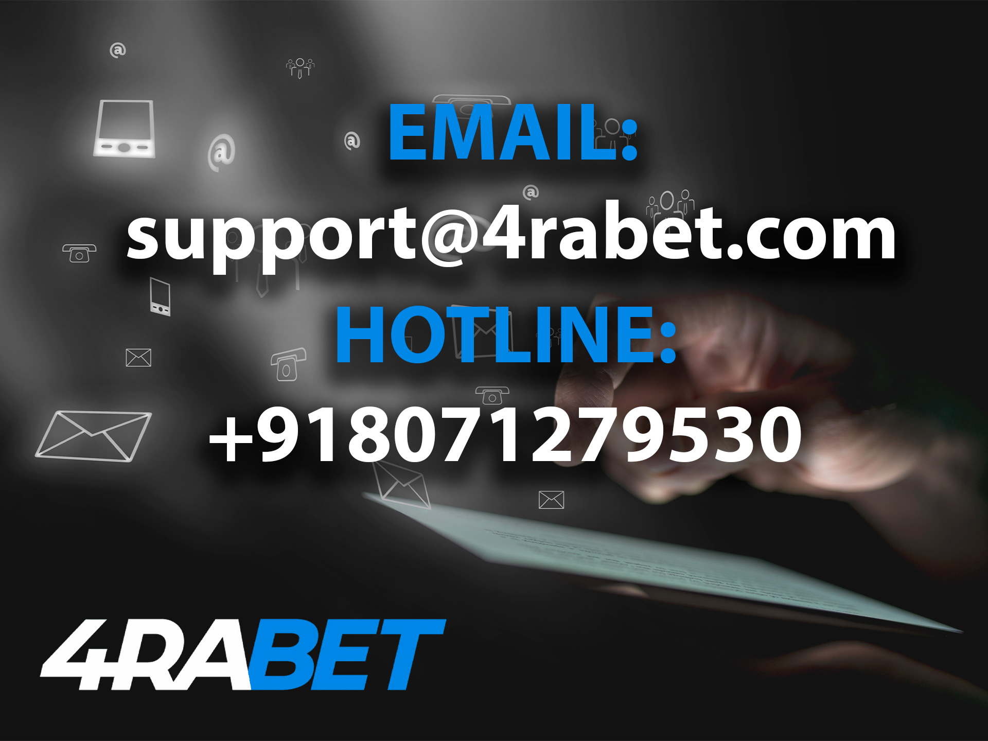 You can contact 4rabet team any way. that is more convenient for you.