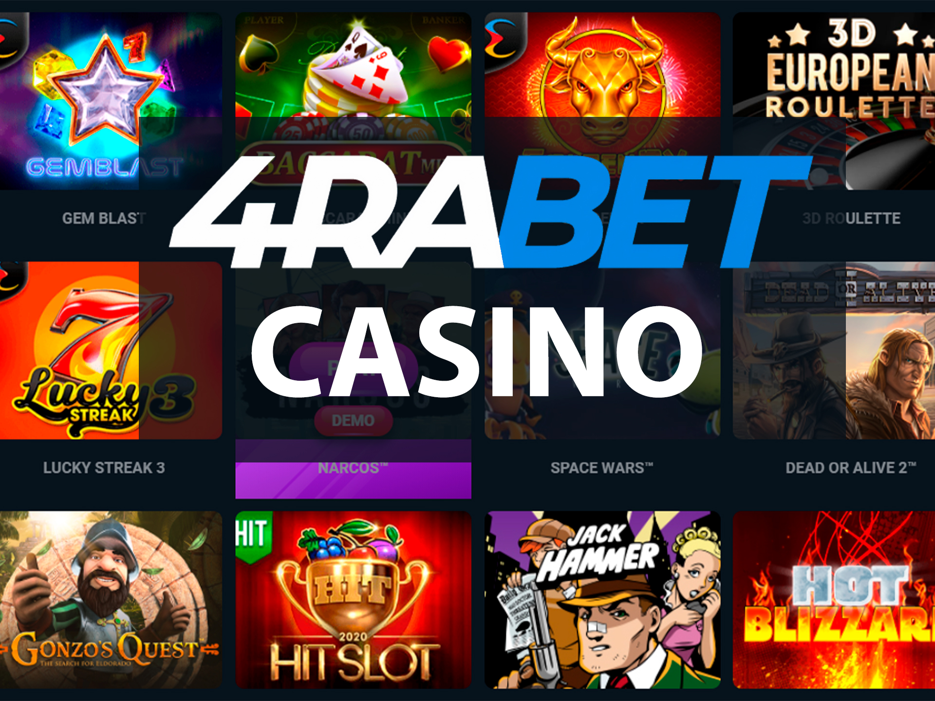 There are many profitable games from trustworthy providers at 4rabet casino.