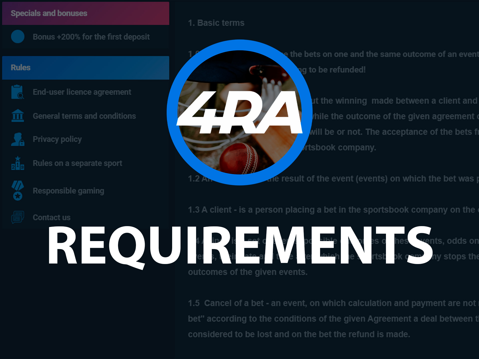 Meet the requirements to have no problems with registration at 4rabet.